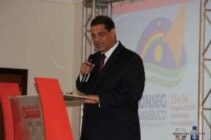 Presidente da Fenacor, Armando Vírgilio na abertura do 3º Conseg