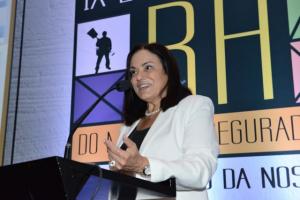 A diretora de Ensino Técnico da Escola, Maria Helena Monteiro, abriu o evento. Foto | Douglas Asarian